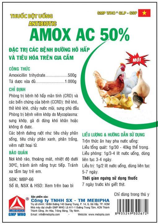 Thuốc gia cầm Amox AC 50%